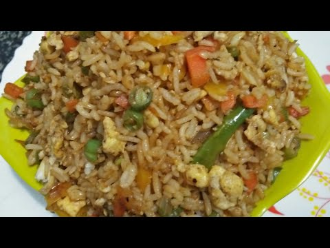 Egg Fried Rice Recipe In Kannada / How To Make Egg Friend Rice At Home.