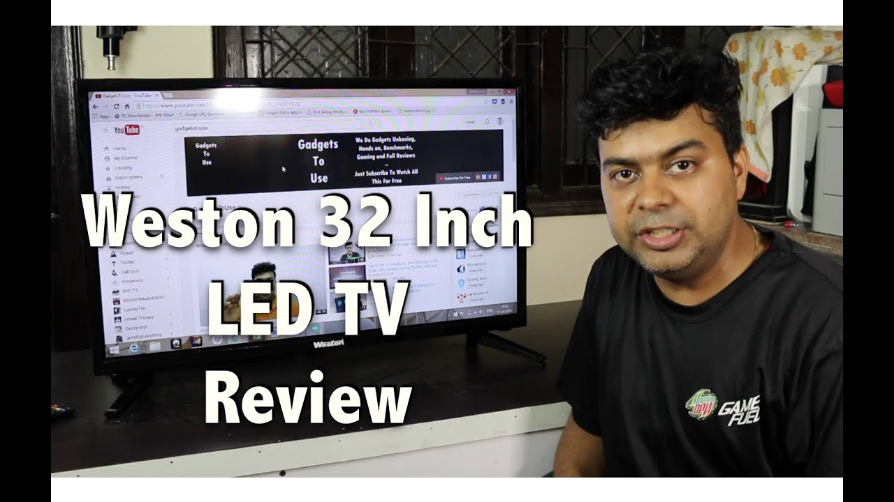 9c7e0185467 Weston 32 Inch LED TV India Unboxing and Review - YouTube