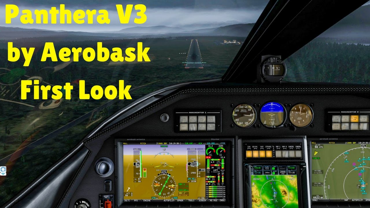 X Plane 11 Panthera V3 by Aerobask First Look Smithers Reg BC, Canada
