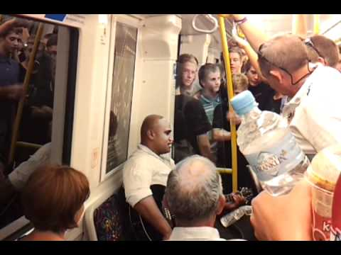 Awesome guy on Perth train after Glory match - Stand by Me, Beautiful Girl, Lean on me covers