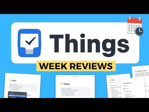 Things 3 Week Reviews