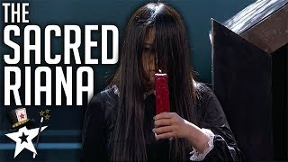 Scariest Magician EVER! The Sacred Riana All Auditions And Performances | America