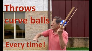 Curve ball Flinger....Magnus Effect. // Homemade Science with Bruce Yeany