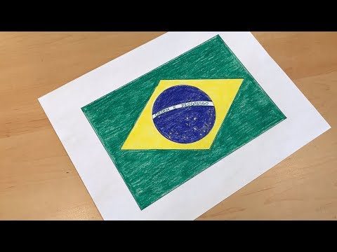 Brazilian Flag Drawing 🇧🇷