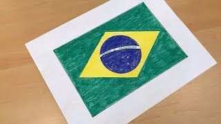Brazilian Flag Drawing 🇧🇷