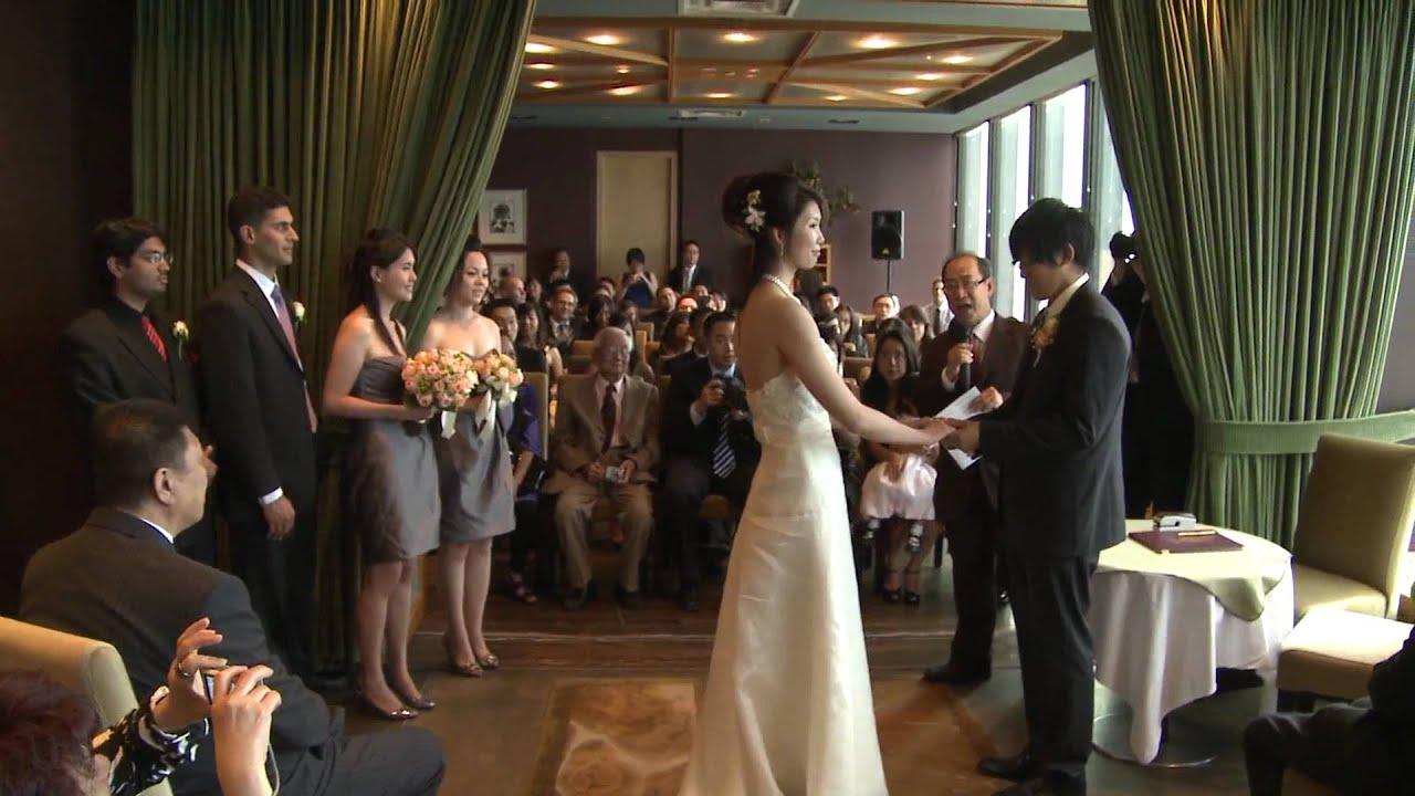 A Wedding Ceremony At Canoe Restaurant Bar Toronto