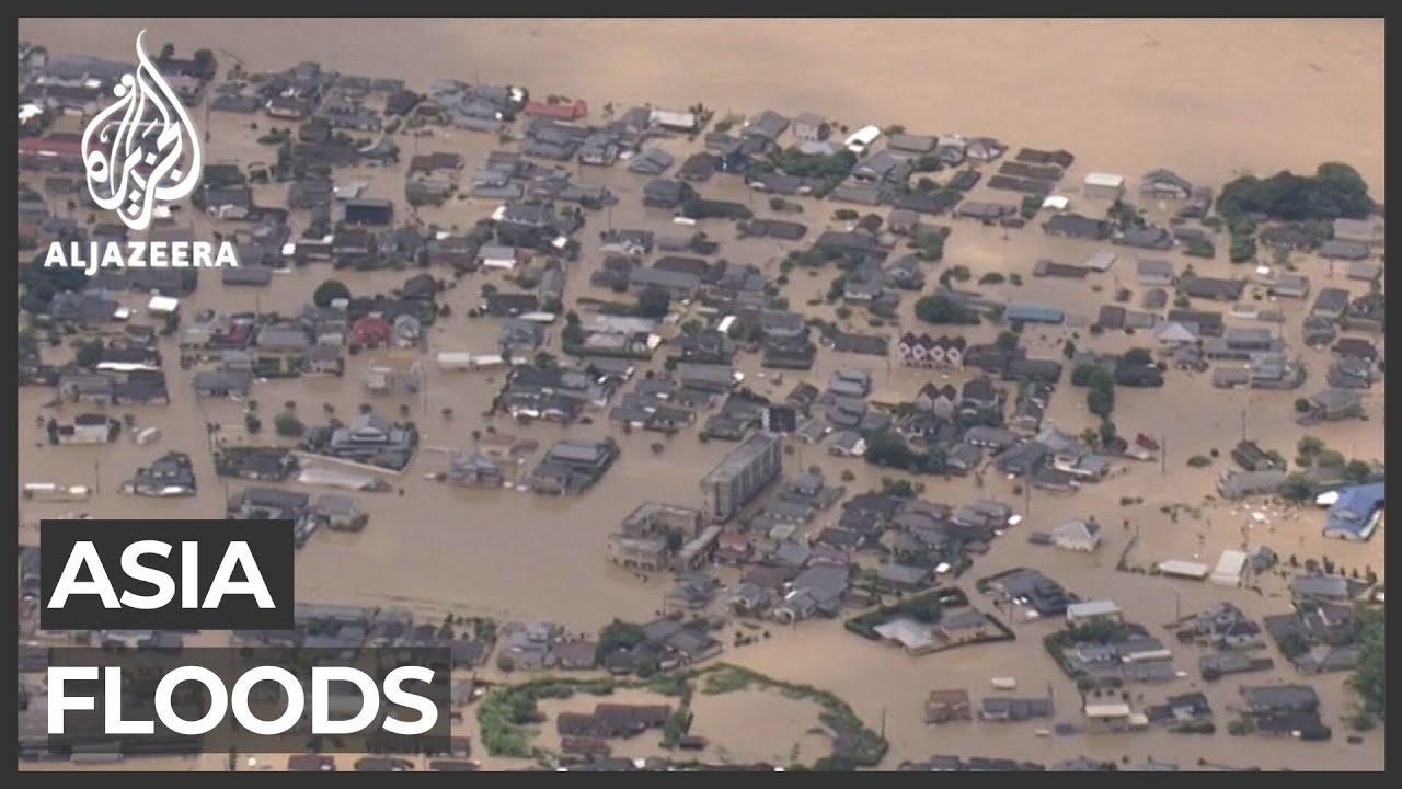 Dozens killed in southern Japan floods