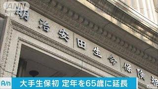 定年を65歳まで延長する企業が増えています。明治安田生命は国内の大手...
