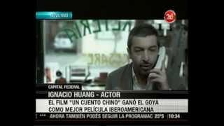 """Premio Goya Ignacio Huang un actor taiwanes """"Un Cuento Chino"""" Iberoamericana Argentina 20Feb2012"""