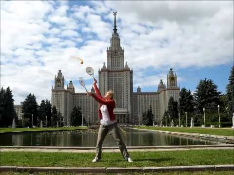 Taiji tennis in the sky of Moscow