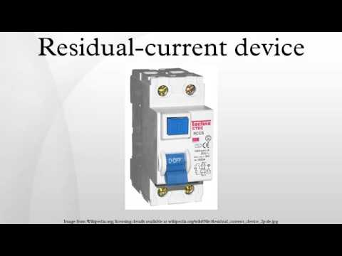 Residual-current device