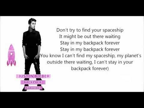 Justin Bieber   Backpack karaoke  (HD)