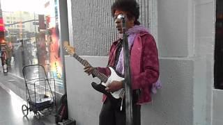 Jimi Hendrix Performs at Hollywood Boulevard