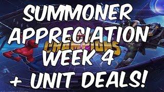 Summoner Appreciation Week 4 + Unit Deals! - Marvel Contest Of Champions