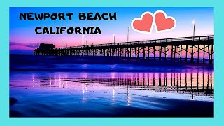 CALIFORNIA: Walking through beautiful NEWPORT BEACH (USA) 🏖️