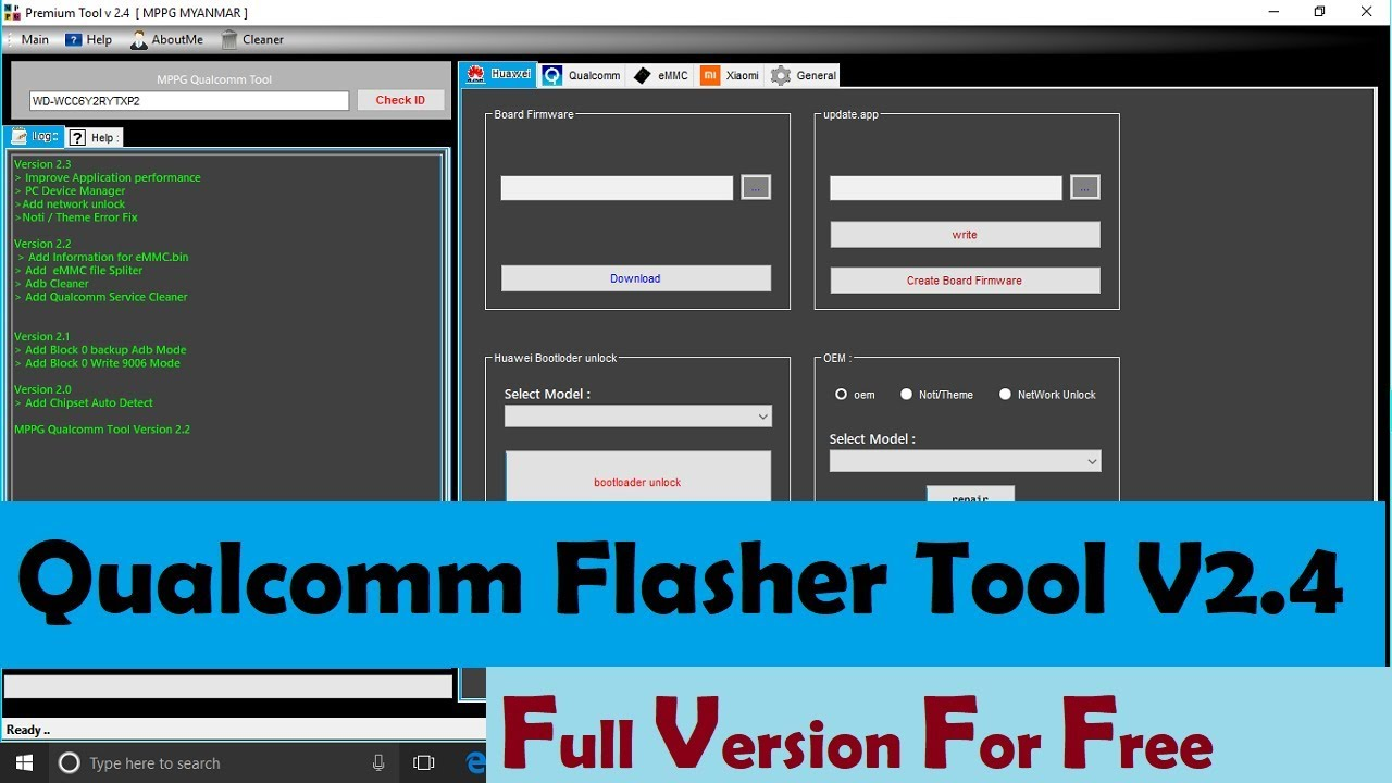 Qualcomm Flasher Tool V2.4 Full Version For free + how to use and