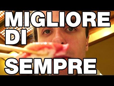 MANGIO SUSHI MIGLIORE DI SEMPRE - DOVETE VEDERLO! - da Kyubei!