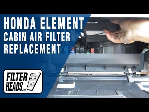 How To Replace Cabin Air Filter Honda Element Youtube