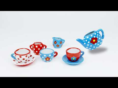 14976 SES Paint your own tea set