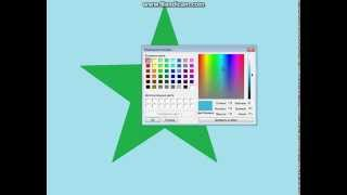 Видео урок. Как нарисовать морскую звезду в Paint(Не обращайте внимания на цвет рыбки и звезды. Фантазия..., 2015-04-06T11:35:14.000Z)