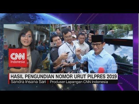 Situasi Hasil Pengundian Nomor Urut Pilpres 2019 Di Masing-masing Tempat Relawan Paslon Presiden