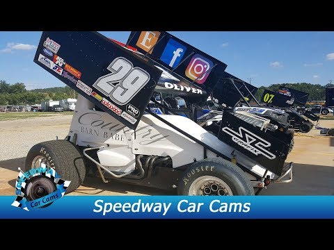 #29 Jeff Oliver - Sprint Car - 8-18-17 Boyd's Speedway - In Car Camera