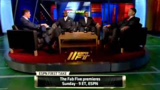 "Remembering ""The Fab Five"" - Jalen Rose, Jimmy King and Ray Jackson on First Take March 8, 2011"