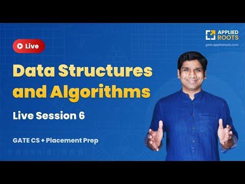 Interactive problem solving session on DS & ALGO PART 6 | GATE CS 2022 | GATE APPLIED COURSE