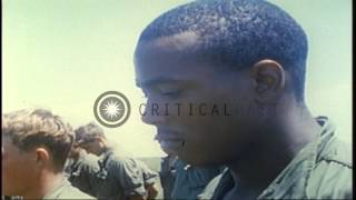 US Army Chaplain conducts  memorial ceremony for fallen of 199th Light Infantry B...HD Stock Footage