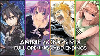 BEST ANIME OPENINGS AND ENDINGS COMPILATION #3 [FULL SONGS]