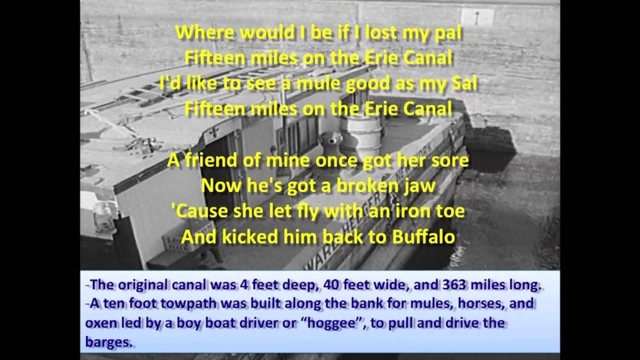 Erie Canal - Bruce Springsteen (Lyrics) - YouTube