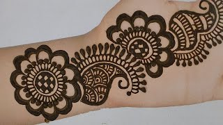 very easy simple arabic mehandi design | floral mehandi design | henna mehandi designs 2020