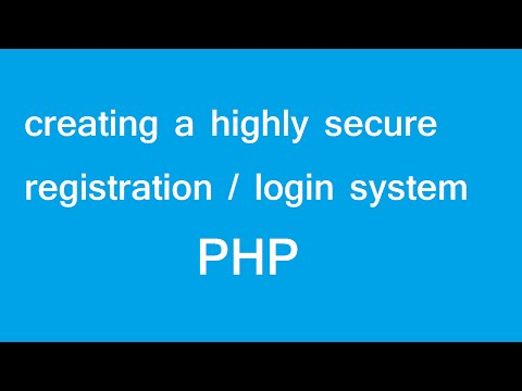 How To Make A Secure Php Register Login Form With Validation
