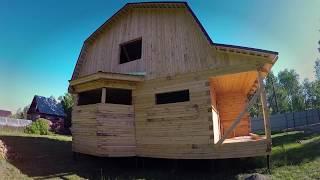 Дом из бруса в стадии усадки.