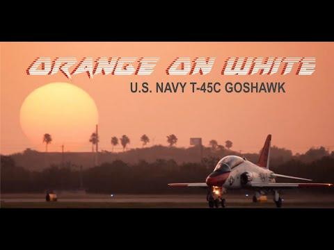 "Navy T-45C Goshawk - ""Orange on White"" - 2020"