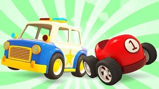 Helper Cars Cartoon: Learn Car Names With Car Toys & Vehicles For Kids - Learn Colors With Cars