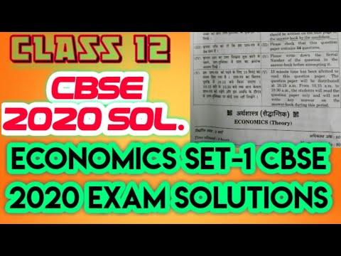 CLASS 12 ECONOMICS SOLUTION CBSE 2020 economics paper answer key economics solutions 2020,econmics