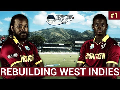 🏏Cricket Captain 2017 | Rebuilding West Indies | EP1 | First ODI vs Pakistan | CC2017