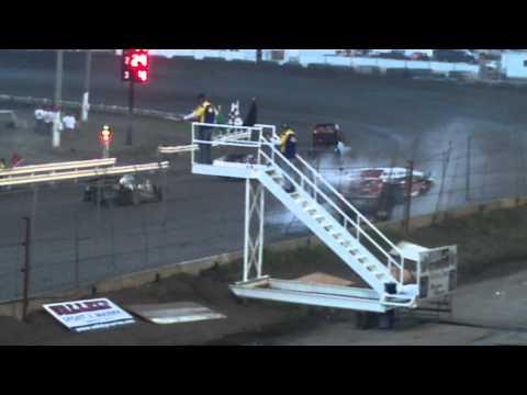 Nodak Speedway Race Ending Wreck Aug 14, 2011