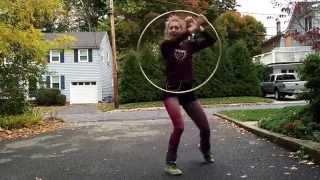 trap down Hula hoop dance