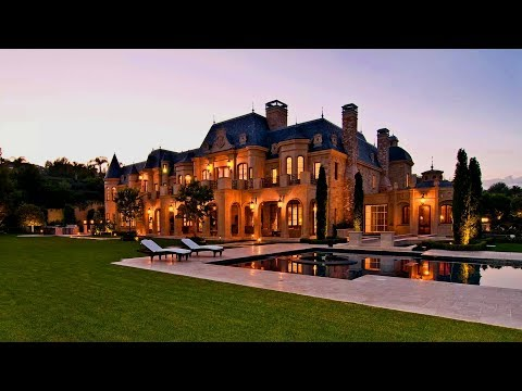 French Chateau style Beverly Hills mega mansion