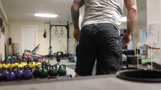 Building Muscle with Heavy Kettlebells :  Back and Lat Engagement assist for heavy Kettlebell Squats