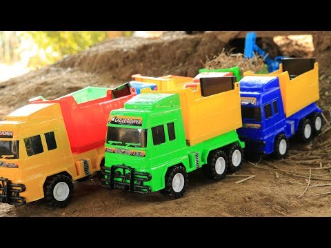 Construction Vehicles Toy Unboxing - Playing with Diggers + Toy Trucks