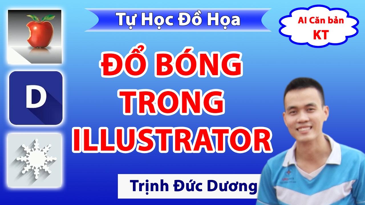 Học thiết kế đồ họa | Hướng dẫn tạo bóng đổ trong illustrator | Tự Học Đồ Hoạ
