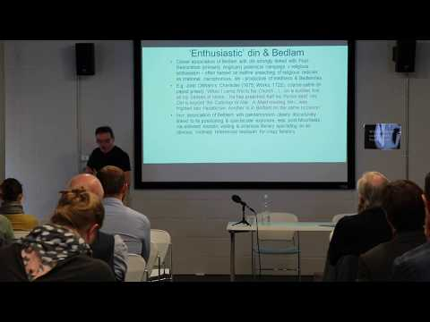 """Sound Talking: Jonathan Andrews """"Bedlam as soundscape: Noise at early modern Bethlem"""""""