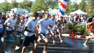 Starting Line of the 2009 Love Run 5K Race in Westlake Village, CA