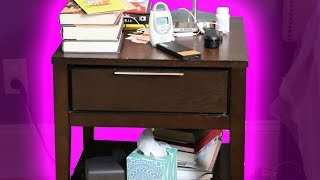 Decluttering the Somewhat Embarrassing Nightstand of a 39 Year-Old Best-Selling Author