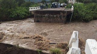 Crecida derriba puente de 40 metros en la Durango-Parral: SCT