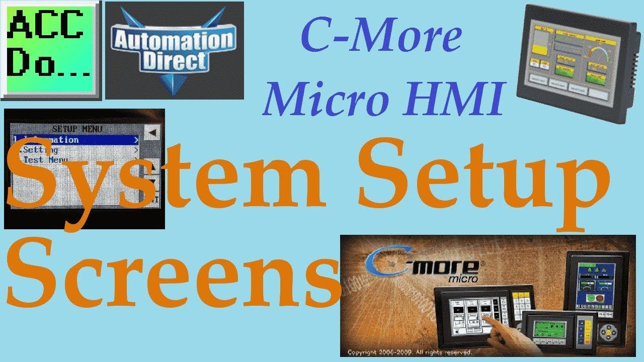 C More Micro HMI System Setup Screens