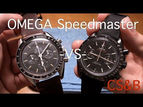 Omega Speedmaster Moon Watch -VS- Omega Dark Side of the Moon - Comparison and Review
